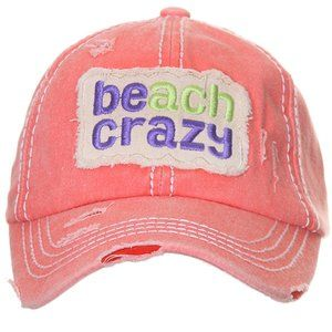C.C Vintage Beach Crazy Ponytail Bun Baseball Cap